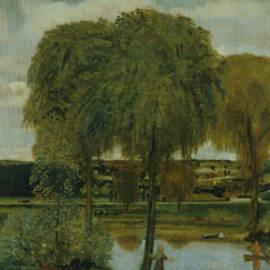 Along the Erie Canal - Arthur Bowen Davies