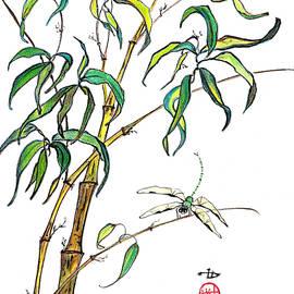 Irina Davis - Bamboo and Dragonfly