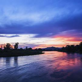 Vishwanath Bhat - Beautiful sunset along Boise River