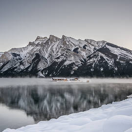 Yves Gagnon - Boat House Lake Minnewanka Banff National Park