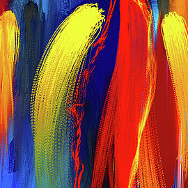 Be Bold - Primary Colors Abstract Art - Lourry Legarde