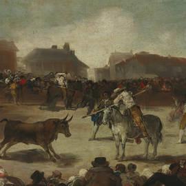 Bullfight in a Village - Francisco Goya