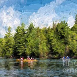 Les Palenik - Canoe paddling in Algonquin Park