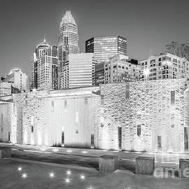 Charlotte at Night Black and White Photo - Paul Velgos