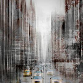 City-Art NYC 5th Avenue Yellow Cabs - Melanie Viola