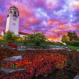 Vishwanath Bhat - Dramatic Autumn Sunrise at Boise Depot in Boise Idaho