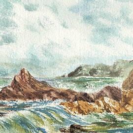 Irina Sztukowski - Elongated Seascape Painting