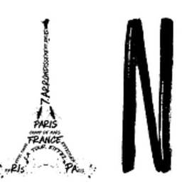 FRANCE Typography Panoramic - Melanie Viola