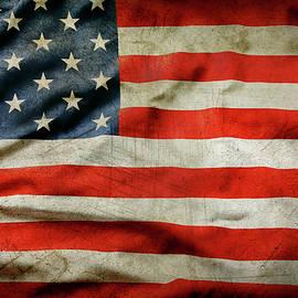 Grunge American flag - Les Cunliffe