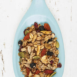 Elena Elisseeva - Homemade granola in spoon