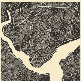 ISTANBUL MAP - Jazzberry Blue