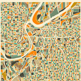 KANSAS CITY MAP 2 - Jazzberry Blue
