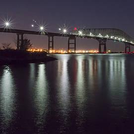 Key Bridge At Night