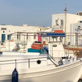 Colette V Hera  Guggenheim  - Naoussa old Port. Paros Island