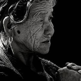 Nola Lee Kelsey - Nepali Elder at Bodhnath Stupa