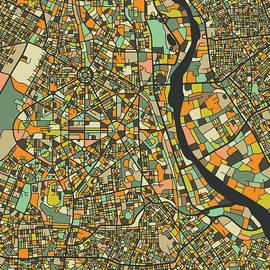 New Delhi Map - Jazzberry Blue