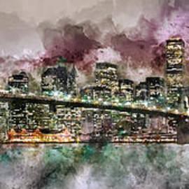 Jon Neidert - New York City Skyline Watercolor