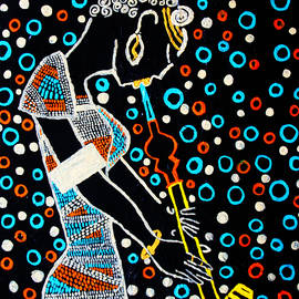 Gloria Ssali - Nuer Lady with Pipe - South Sudan