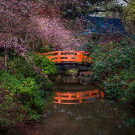 Ken Wolter - Orange Bridge over Pond