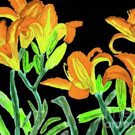 Irina Afonskaya - Orange-yellow lilies