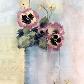 Arline Wagner - Pansies In A Can