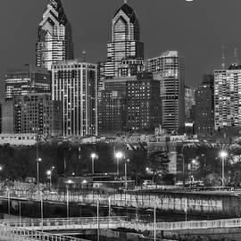 Susan Candelario - Philly Skyline Full Moon