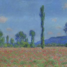 Poppy Field, Giverny - Claude Monet