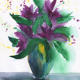 Frank Bright - Purple Flowers Abstract