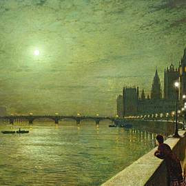 Reflections on the Thames, Westminster - John Atkinson Grimshaw