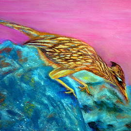 Antonia Citrino - Roadrunner on Point  Pastel
