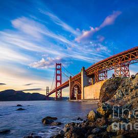 Engel Ching - San Francisco Golden Gate Bridge at Sunset