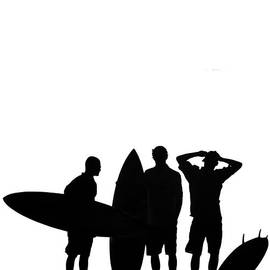 Silhouetted Surfers - Sean Davey