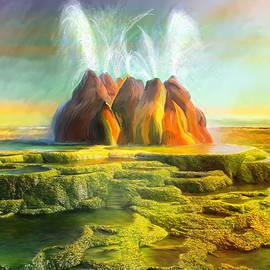 Angela A Stanton - Spitting-Fly Geyser In Nevada