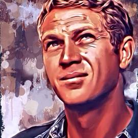 Scott Wallace - Steve McQueen Portrait 2