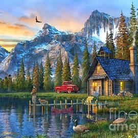 Sunset at Log Cabin - Dominic Davison