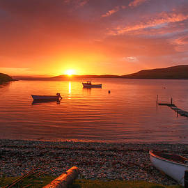 Anne Macdonald - Sunset At Trondra Shetland