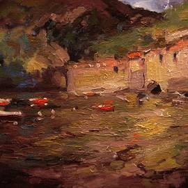 R W Goetting - Sunset in Vernazza