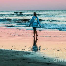 Sunset Stroll in the Surf