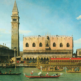 The Bucintoro at the Molo on Ascension Day - Canaletto