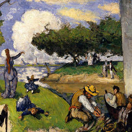 The Fishermen   Fantastic Scene - Paul Cezanne