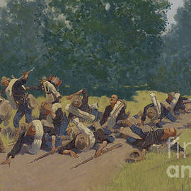 The Scream of Shrapnel at San Juan Hill - Frederic Remington