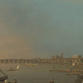The Thames from the Terrace of Somerset House, Looking toward Westminster - Canaletto