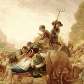 The Threshing Floor - Francisco Goya
