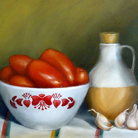 Margaret Stockdale - Tomatoes Garlic And Oil