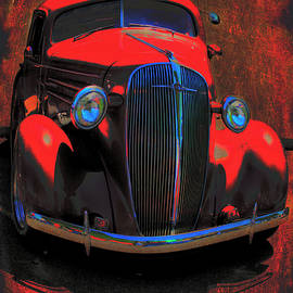 Lesa Fine - Vintage Car Art 0443