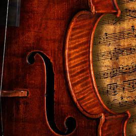 John Stephens - Vintage Violin With Antique Overture Sheet Music