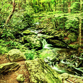 Kay Brewer - Waterfalls in the Smokies with Art