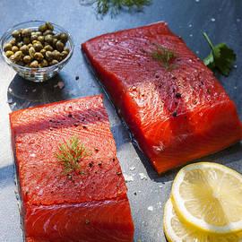 Wild salmon steaks - Elena Elisseeva