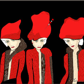 Irmgard Schoendorf Welch - 1127 - The red hats 1 ...