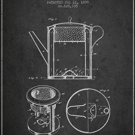 Aged Pixel - 1899 Coffee Pot patent - charcoal